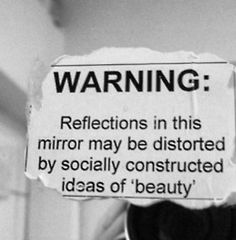 beauty girl true broken fat mirror ugly society judge depressing warning hate people