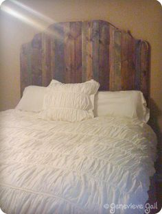 DIY headboard - maybe painted a bright color?
