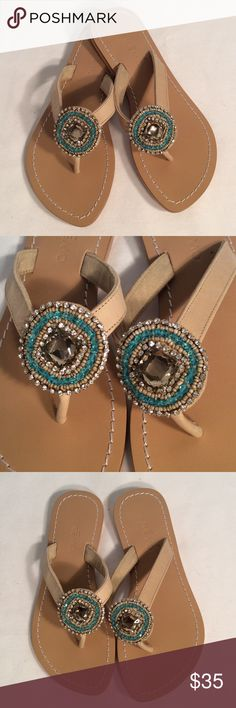 Skemo stunning rhinestone leather sandals Skemo stunning rhinestone leather sandals excellent brand-new condition Skemo Shoes Sandals
