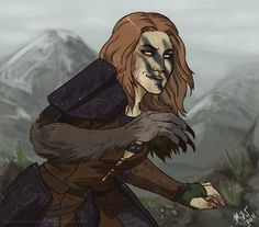 Aela the Huntress, one of the best characters in the game and my favorite Companion..... I need a life.