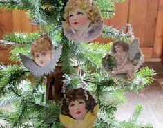 Authenic Antique 1800s German Victorian die cut ornaments by LuLuLindy on Etsy-These make lovely gifts for folks who love antiques. Pinned onto a stocking, they make unbeatable ornaments/gifts (due to their fragility, id provide a box for storage-& only temporarily use them as a stocking trim) These treasures belong on trees, where the stresses are minimal. Thats how they've survived since the 1800's!
