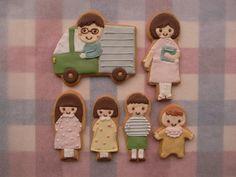 People!      cookies     家族写真…じゃなくて家族クッキー!記念日おめでとうございます♪