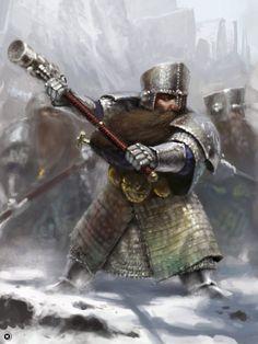 Nain guerrier / Jeu Warhammer