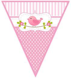 Shabby Chic Wedding Decor, Shabby Chic Birthday, Shabby Chic Baby Shower, Imprimibles Baby Shower, Moldes Para Baby Shower, Candy Bar Party, Baby Journal, Bird Party, Halloween Scrapbook