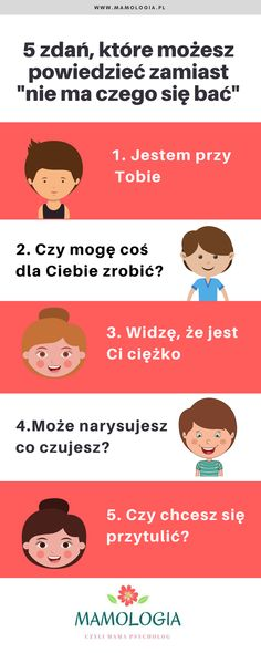 Infografika, nie ma czego się bać, psychologia dziecięca Polish Language, Family Kids, Happy Kids, Social Platform, Good Advice, Self Improvement, Kids And Parenting, True Stories, Psychology