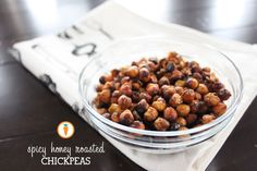 Spicy Honey Roasted Chickpeas