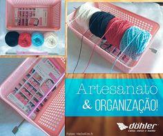 As fãs de artesanato sabem bem o trabalho que dá guardar todas as linhas. Por isso, selecionamos uma ideia fácil e bacana de organização!