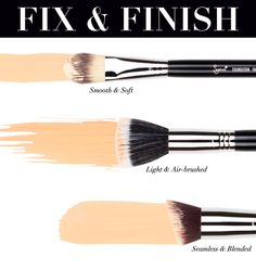 The proper brush makes all the difference in your foundation application and luckily we have quite the selection to choose from! Learn about all of Sigma's foundation brushes: http://www.sigmabeautytalk.com/2013/05/13/brush-function-foundation/
