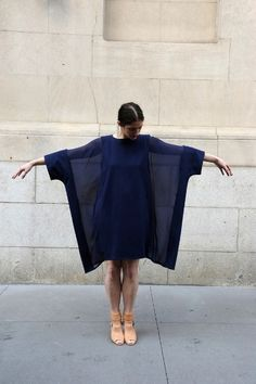 blue it is — parkstreetblog: MARIOS COTTON AND SILK GEORGETTE...
