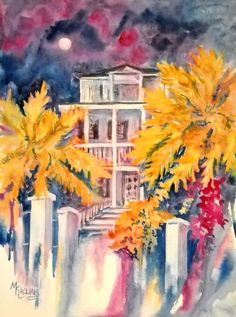 Original Watercolor of Charleston Southern by MarthaKislingArt