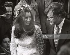 Kathleen Kennedy and Ted Kennedy during Kathleen Kennedy's Wedding at Holy Trinity Church in Georgetown, Washington D. Get premium, high resolution news photos at Getty Images Kathleen Kennedy, Ethel Kennedy, Jacqueline Kennedy Onassis, American, Wedding, Warriors, Brides, Presidents, Royalty