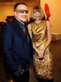 Bono and Anna Wintour