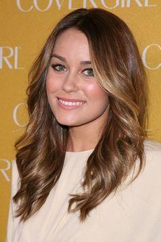 Lauren Conrads new brunette hairstyle!