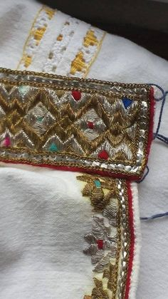 Traditional Romanian shirt detail. Men. Vrancea