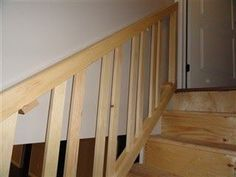 This basement stair situation required a stair rail that can be removed, so big items can be carried downstairs. The top and bottom rails...