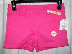 Item ID: 382105053433 Girl's (Size 8) FADED GLORY Pink Chino Shorts Adjustable Waist NWT #FadedGlory #Everyday