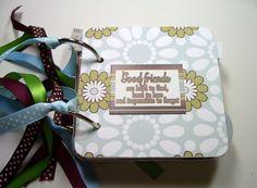 Good Friends Premade Mini Scrapbook Album Good by HampshireRose, $25.00