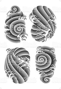 Risultati immagini per japanese tattoo stencils Irezumi Tattoos, Tatuajes Irezumi, Japanese Wave Tattoos, Japanese Dragon Tattoos, Japanese Sleeve Tattoos, Japanese Cloud Tattoo, Japanese Tattoo Women, Stencils Tatuagem, Tattoo Stencils