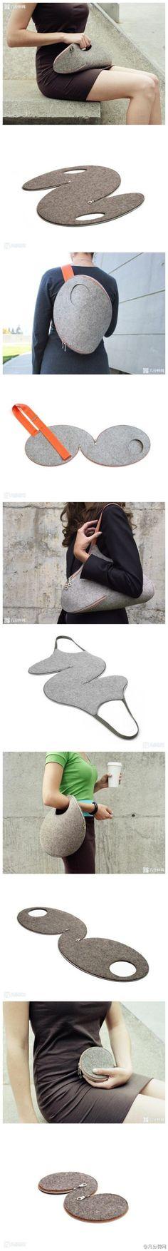Strihy na jedinečné kabelky a taštičky z filcu.