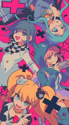 Danganronpa - Everything About Manga Danganronpa Funny, Danganronpa Characters, Anime Characters, Danganronpa Monokuma, Super Danganronpa, Wallpaper Animé, Cute Anime Wallpaper, Fanarts Anime, Manga Anime