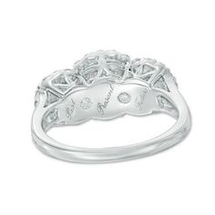 2 CT. T.W. Diamond Double Frame Past Present Future® Engagement Ring in 14K White Gold | Engagement Rings | Wedding | Zales