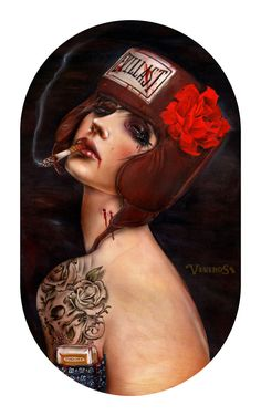 Artist Brian Viveros, I fell in love with his work ages ago and only recently found his site again. It is a captivating and compelling look at women and violence.