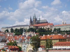 Panorama of Hradcany is the castle district of the city of Prague, Czech Republic, surrounding the Prague Castle.
