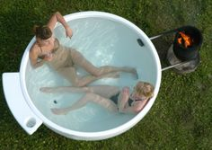 #Dutchtub. Bathtub outdoor heated. Capacity 4 people.