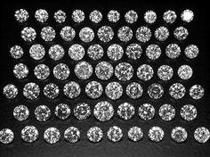 1.00 carats White Diamonds Lot  VS2-I1  H-I by gems999 on Etsy