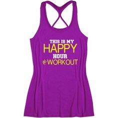 Fitness Workout Gym Tank Top This Is My Hour workout/black Yellow Rose... ($20) ❤ liked on Polyvore