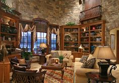 Awesome rustic living room house design
