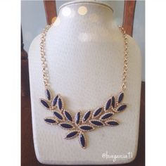 Beautiful statement piece  Beautiful navy blue statement piece! This necklace will make any outfit pop! Nwt.                      ✅Reasonable offers only ✅Discounted Bundles  Trading or Paypal                                                  1 Day shipping or sooner Natasha Jewelry Necklaces