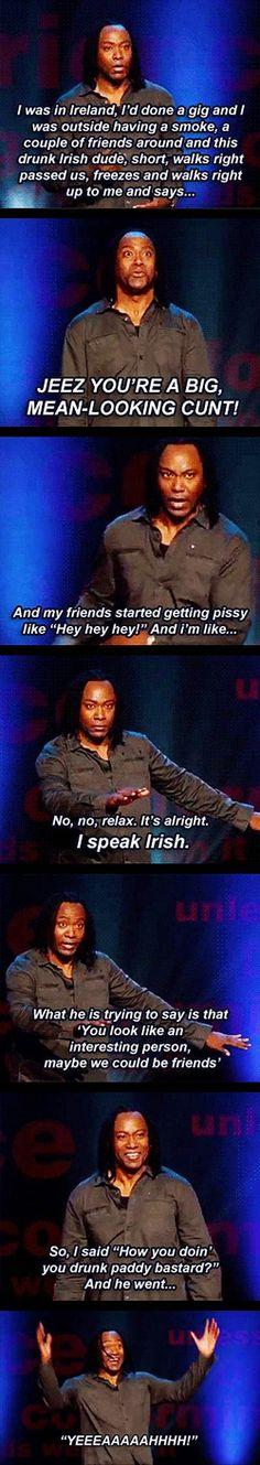 It's alright, I speak Irish Pandora