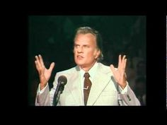 """Billy Graham preaching-""""What You Cannot Do Without""""--The Life Changing Message of Billy Graham...1975 Albuquerque,NM. Our society often thinks of life's luxuries as true necessities. Billy Graham explains that what we desperately need is to trust in Jesus Christ as our Savior and recognize His blood sacrifice on the Cross."""