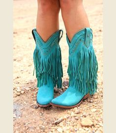 THE RAMBLER BOOT-TURQUOISE - Junk GYpSy co.
