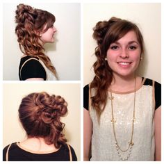 Ponytail updo #hair #hairstyle