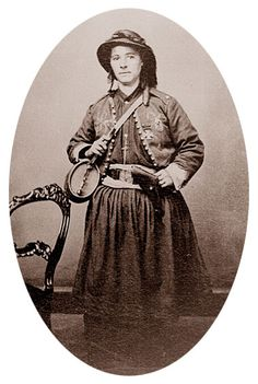civil war ladies' uniform | ... pistol on her hip and a uniform she made herself. Larger photo