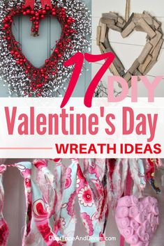 Don't buy a Valentines Day wreath. Here are 17 fun DIY wreaths that are easy and cheap to make yourself. Some are even interchangeable for all the holidays! Diy Valentines Day Wreath, Valentine Treats, Valentines Day Decorations, Wreath Crafts, Diy Wreath, Diy Crafts, Wreath Ideas, Valentine's Day Diy, Cool Diy Projects