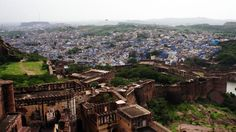 Jodhpur seen from the Mehrangarh fort, Jodhpur, Rajasthan, India Blue City, Rajasthan India, Jodhpur, Paris Skyline, Grand Canyon, City Photo, Travel, Goa India, Viajes