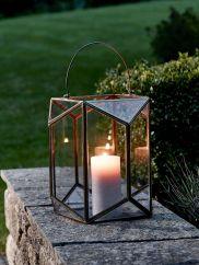 NEW Burnished Gold Geometric Lantern