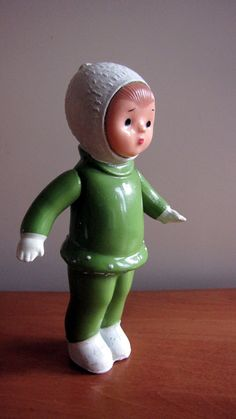 Celluloid doll from 60s  made in USSR  Plastic Toy  by RETROisIN