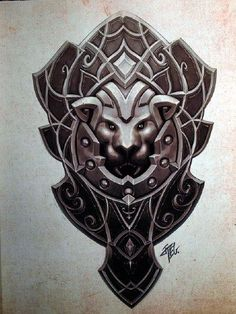 This shield gives courage to its master