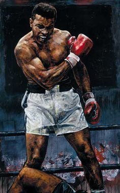 Muhammad Ali painted by Stephen Holland