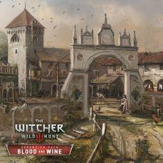 The Witcher Wild Hunt - Blood & Wine Vineyard, Andrzej Dybowski The Witcher Wild Hunt, The Witcher 3, Witcher Art, Wine Vineyards, Art Station, The Expanse, Concept Art, Medieval, Norte