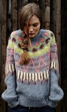 The Darker Horse: Blurred Lines | Colorful Geometric Fairisle Sweater