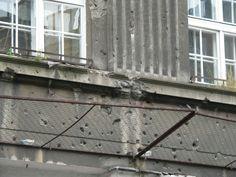 II World War #Bullets Impacts in #Warsaw #poland