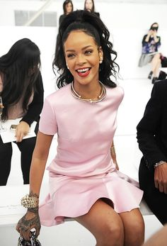 Rihanna bij Dior