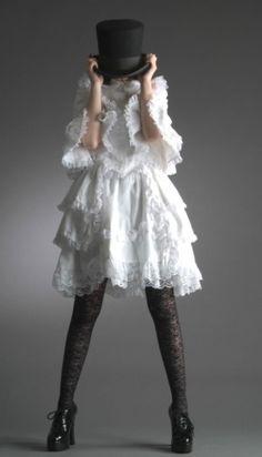 White goth style