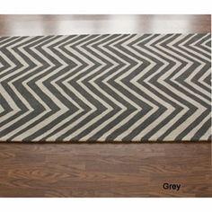 "chevron rug  /  $277  /  7'6"" x 9'6"""