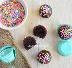 Oreo truffels - Laura's Bakery Cookie Pie, High Tea, Diy For Kids, Fudge, Baking Recipes, Sweet Recipes, Cake Pops, Sprinkles, Bakery